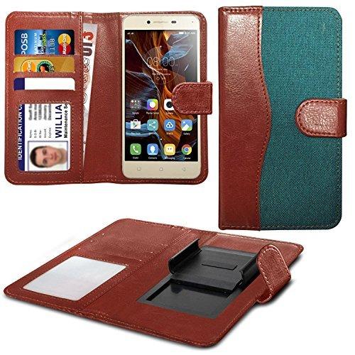 Preisvergleich Produktbild N4U Online - Verschiedene Farben Clip On Dual Fibre Buch Schutzhülle Hülle Für Aldi Medion Life E5005 5 - Grün