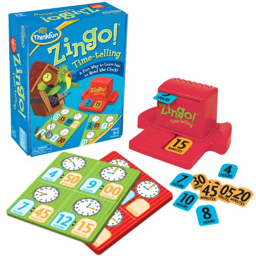 ThinkFun Zingo Time Telling