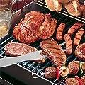 Meao 4-teilig Edelstahl-Grillbesteck mit Aluminium-Aufbewahrungskoffer - Prämie Hochleistungsberufs Barbecue Grill Werkzeug Set
