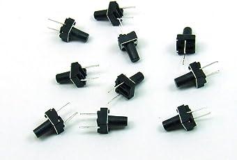 POPESQ®-10 Stk./pcs. x Taktil Schalter (Taster) / Tact Switch 9,5mm Reset Arduino PCB #A208