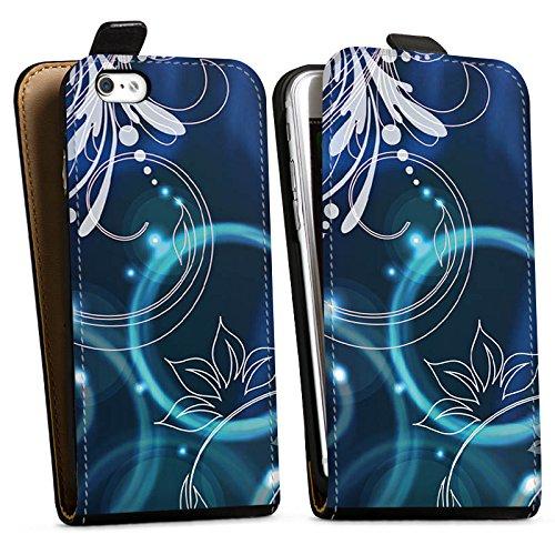 Apple iPhone X Silikon Hülle Case Schutzhülle Ornamente Blumen Seifenblasen Downflip Tasche schwarz