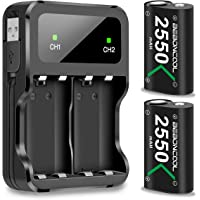Battery Pack for Xbox One Controller/Xbox Series X/S , BEBONCOOL 2550mAh 2 Pack for Xbox One Controller Rechargeable…