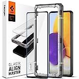 Spigen AlignMaster Screenprotector compatibel met Samsung Galaxy A72, Frame voor eenvoudige Installatie, Volledige dekking, 9