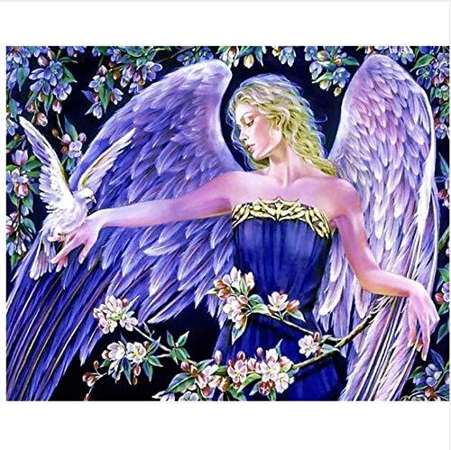 GUXUE 1000 Teile,Jigsaw Puzzle,Holz Puzzle,Spiele,Erwachsene,Kinder Lernspielzeug, Weibliche Elegante purpurrote weiße Flügel und Vogel des Engels -