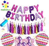 #5: AMFIN® Happy Birthday Foil Balloons with Matching Tassel / Happy birthday set / Birthday decorations items combo