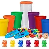 Japace Contar con los Osos de Colores Coordinados,Osos de Colores Coordinados con Vasos Apilables,Infantil Juguetes Montessor
