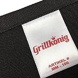 N°1 GRILLKÖNIG deluxe - Mein Grill, Meine Regeln - Grillschürze Premium mit verstellbarem Nackenband und Seitentasche -