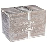 Álbum de fotos caja de almacenamiento - Espíritu Rural - Color MADERA Desgastada