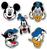 Comics - Disney - Héroes - Mickey Mouse - Gil Pato - Pete Patapalo - El Pato Donald - Juego de 5 imanes de refrigerador - Juego de imanes de nevera - Diseño original con licencia - LOGOSHIRT