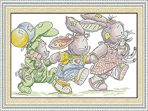 captaincrafts Hot Neue Meldungen Kreuzstich Kits Mustern Stickerei-Kit–der Lovely Kaninchen, (Stickerei Scroll Frames)