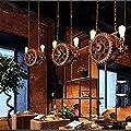 Gute Kronleuchter Skandinavisches Kreatives Esszimmer-Bar-Fass-Kronleuchter Amerikanischer Retro Gang-Treppenhaus-Korridor-Eingang Zwei Kunst-Lampen