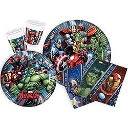 Ciao Y2509 Party-Juego de Mesa de Fiesta Marvel Avengers Para Personas 24 Piezas, 112
