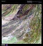 SCIENCE MAP SATELLITE SULAIMAN MOUNTAIN PAKISTAN REPLICA