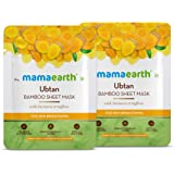 Mamaearth Ubtan Bamboo Sheet Mask - Pack of 2 (25 g * 2)