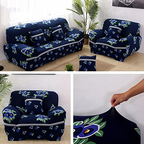 Abdeckungen Sofa Tight Wrap All-Inklusive Slip-resistenten Querschnitt Elastische Full Sofa Cover Handtuch 1/2/3 Sitzer , 4 , 3 seater:190-230cm Slip Cover Für Sofa Bett