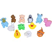 Vibgyor Vibes™ Lovely Mixed Colourful Chu Chu Squeeze Me Toys. for Baby/Toddler/Infants and Newborns. Pack of 12