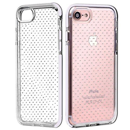 iPhone 7 Ultra Slim Case, SHANSHUI Weiches TPU Hülle Silikon Transparente Schutzhülle Rückschale Backcover Rahmen Bumper (i7,Schawarz) Weiß