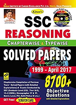 Kiran's SSC Reasoning Chapterwise & Typewise Solved Papers 8700+ Objective Questions – English - 1923 by [Think Tank of Kiran Prakashan & KICX]