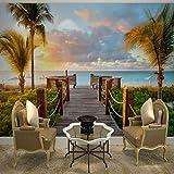 Lzhenjiang Wandbilder Seidentuch, Große Tv-Hintergrundbild Hintergrundbild Auf Einem Schlafsofa Im Wohnzimmer Wallpaper Strand Sonnenuntergang