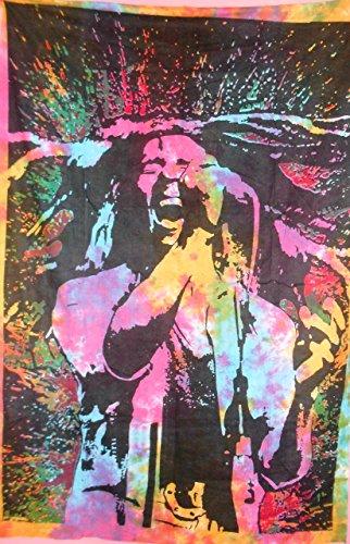 Traditionelle Jaipur Tie Dye Bob Marley Tapisserie Hippie Wandbehang, indische Baumwolle Tagesdecke, Bohemian Picknick Werfen, Gypsy Beach Decke, Boho Wohnheim Decor (Hippie Decke Werfen)