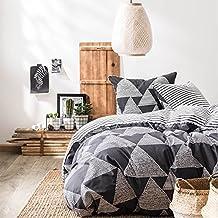 TREKANT - Juego de cama para 2 personas : Funda Nórdica 240x220 cm + Fundas de almohada 63x63 cm