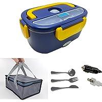 Lunch Box Chauffante Electrique,Gamelle Chauffante,Lunch Box 12V 24V 220V 3 in1,Amovible en Acier Inoxydable 1,5L…