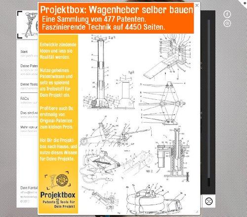 Wagenheber selber bauen: Deine Projektbox inkl. 477 Original-Patenten bringt Dich mit Spaß ans Ziel!