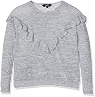New Look 915 Girl's Frill V-Detail Jumper, Grey, 9 Years