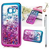 For Samsung Galaxy A3 2017 Case,Badalink Soft TPU Case Cover Shiny 3D Glitter Floating Liquid Slim Fit Protective Shockproof Case with Electroplating Technology For Samsung Galaxy A3 2017 Model,Totem