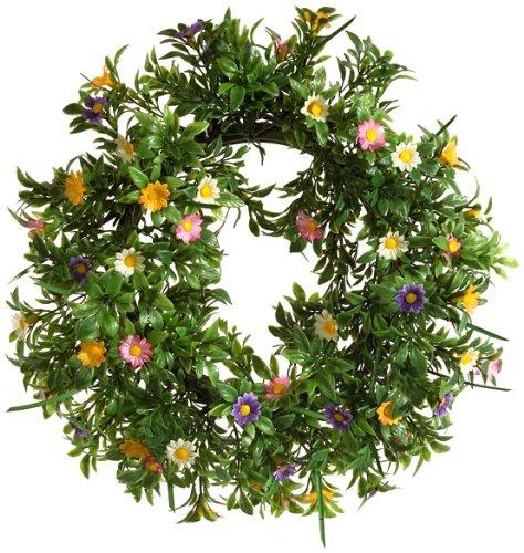 Brauns-Heitmann 65267 Deko-Kranz mit Blumen / ca. 30 cm / grün / bunt