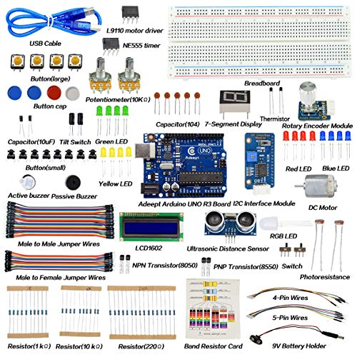 UNO R3 Project Complete Starter Kit with Tutorials ADA018 Weather