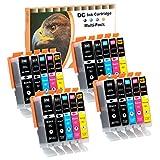 D&C 20er Set (B/PB/C/M/Y) Druckerpatronen PGI CLI 550/551 Ersetzt für Canon Pixma iP7200, iP7250, iP8750, iX6850 MG5450 MG5550 MG5650 MG5655 MG6350 MG6450 MG6650 MG7100 MG7150 MG7550 MX725 MX925