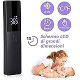 Termometro infrarossi, Termometro Frontale Infrarossi Senza Contatto, Termometri Medico con Display a LED per Febbre per Neon