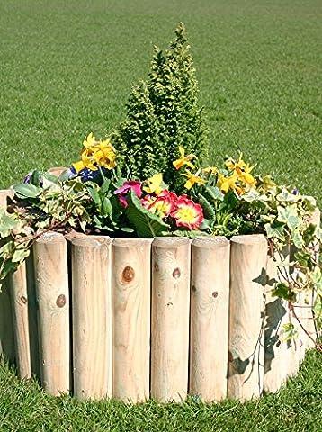 forestfox™ 18 Inch x 1.8m Garden Log Roll Border Edging FSC Wood Raised Beds Retainer Walls