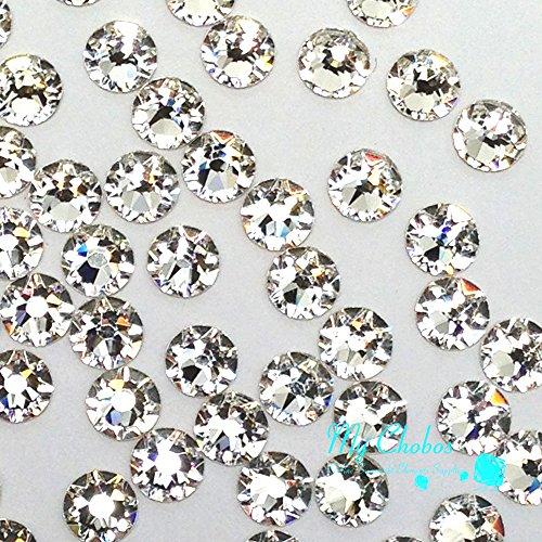 Crystal (001) klar Swarovski 2058Xilion/New 2088Xirius Nail Art, Kristallgröße SS20flach Rücken Strass 5mm SS20, * * kostenfrei Versand aus Jet (280) * * farblos (Xilion Crystal)