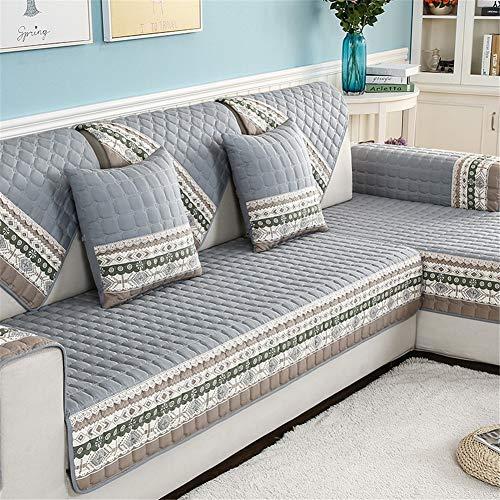 Hkdd colore solido antiscivolo copridivano quattro stagioni morbido quilting divano copertina proteggi mobili adatto per cani e bambini 1 pezzo