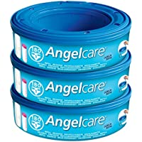 Angelcare Nappy Disposal System Refill Cassettes - Pack of 3 - ukpricecomparsion.eu