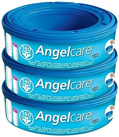 Angelcare Pack de 3 Recharges pour Poubelle à Couches Bleu - Data Busta