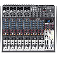 Behringer XENYX X2222USB 22-Kanal 2/2 Bus Mischpult mit XENYX Mic Preamps, 1-knob Kompressoren, 24-bit Multi-FX und USB Audio Interface