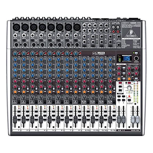 Behringer Xenyx X2222USB Mixer Passivo a 22 ingressi con effetti 24bit ed interfaccia audio USB