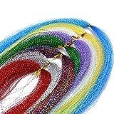 10 Mehrere Farben Kristall Flash Line für Fliegenfischen Fliegen Binden Materialien (10 Packs Verschiedene Farben)