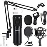 BM800 Professional Broadcasting Studio Recording Condenser Metal Microphone Mic Kit with Sound card Shock Mount for Singing