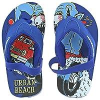 BOYS INFANTS URBAN BEACH NANG BLUE SLING BACK FLIP FLOPS BEACH SANDALS-UK 6 (EU 23)
