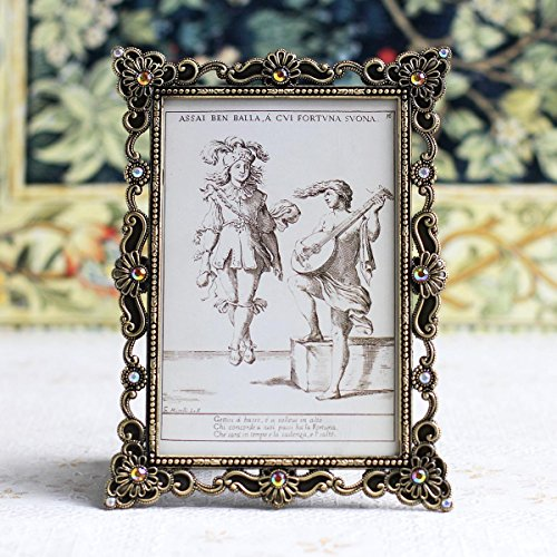 Galleria fotografica LAOZHOU-Photo Frame in metallo regalo diamante decorazione regali,4 * 6,rétro