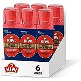 Kiwi, Azul, Betún limpiador renovador líquido instantáneo con aplicador, brilla y protege, 75ml, Pack de 6