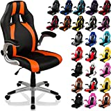 """RACEMASTER® """"GT Series"""" - Silla de escritorio/Gaming silla de despacho - Mecanismo de inclinación y elevación Homolación SGS - Disponible en 20 colores silla de oficina negro/naranja"""