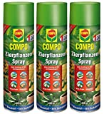 GARDOPIA Sparpaket: 3 x 400 ml COMPO Zierpflanzen-Spray gegen Läuse Thripse Spinnmilben + Gardopia Zeckenzange mit Lupe