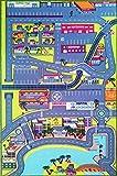 Teppich Kinderzimmer - Stromkreis von Autos in der Stadt - 130 X 200 cm