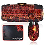 Gaming Keyboard and Mouse Combo-BlueFing...