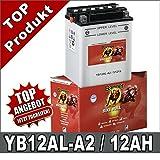 Motorradbatterie 12AH CB12AL-A2, YB12AL-A2 BMW F650GS, Yamaha XV 535 Banner 51213